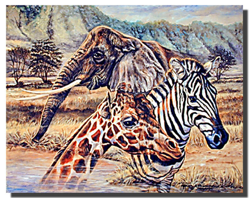African Wildlife Poster