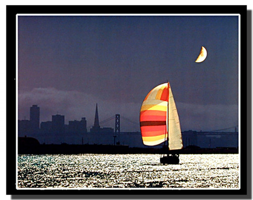 Night Sailing in San Francisco Posters