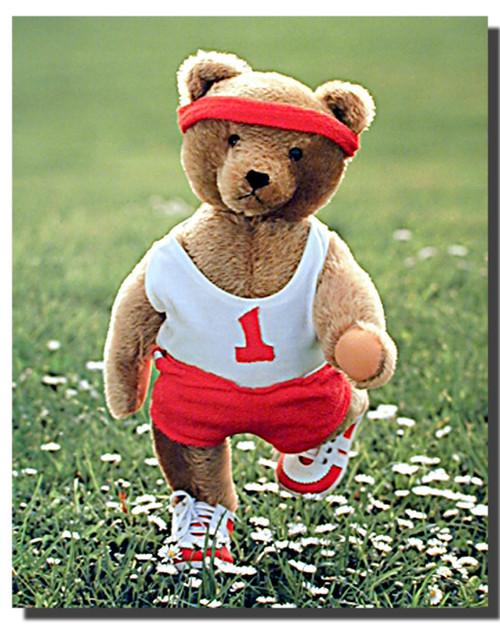 Teddy Bear at Jogging Posters