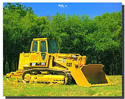 Caterpillar 973 Track Loader Poster
