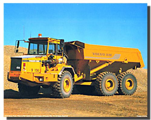 Volvo BM 6x6 A30 Dump Truck Poster