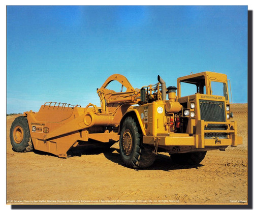 CATERPILLAR 612B LAND SCRAPER POSTER