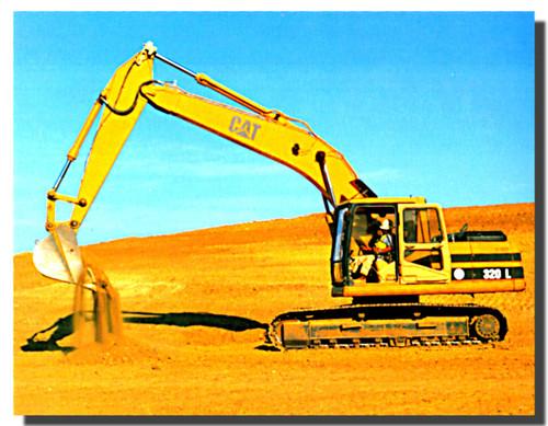 Caterpillar 320L Excavator Poster