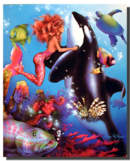 Mermaid and Orca Posters