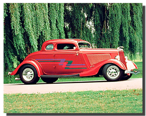 1934 Red Ford Coupe Posters