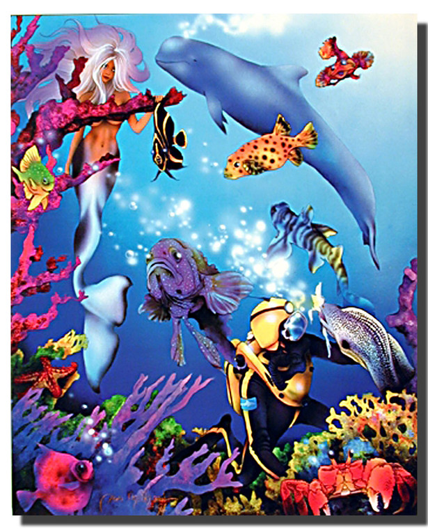 Mermaid and Whale Posters