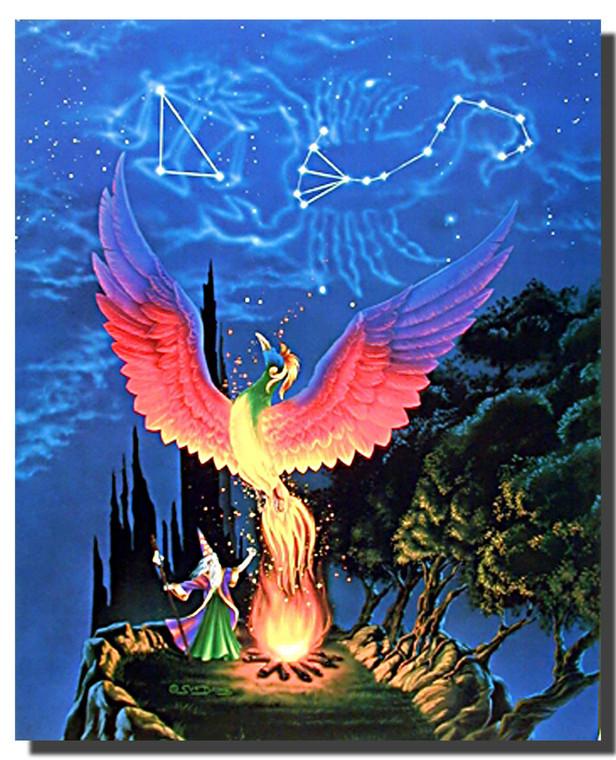 Phoenix Forest Poster- Fantasy