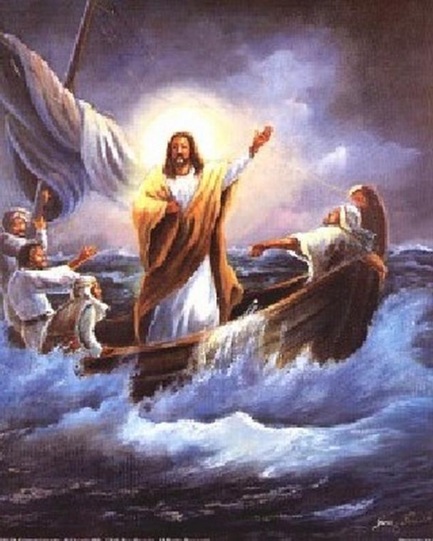 Calming the Sea Jesus Christ Posters