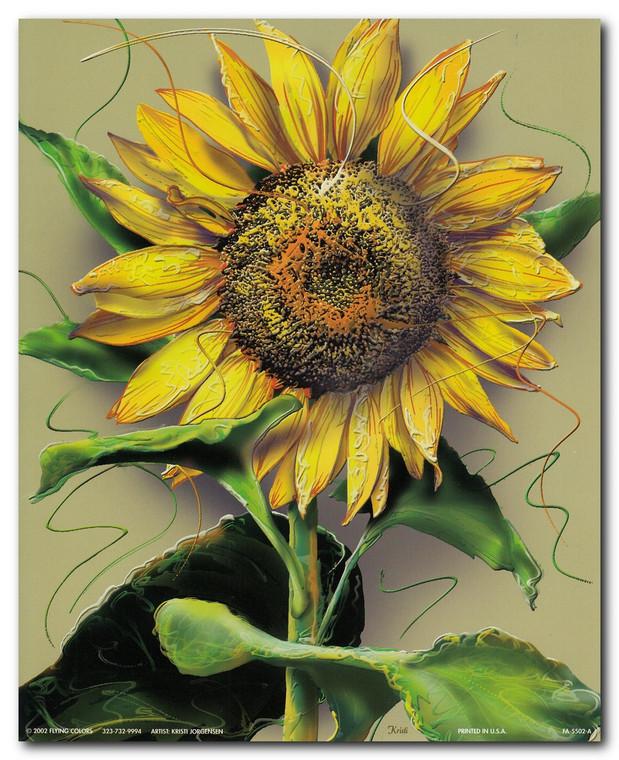 Sunflower Flower Floral Wall Decor Art Print Poster (16x20)