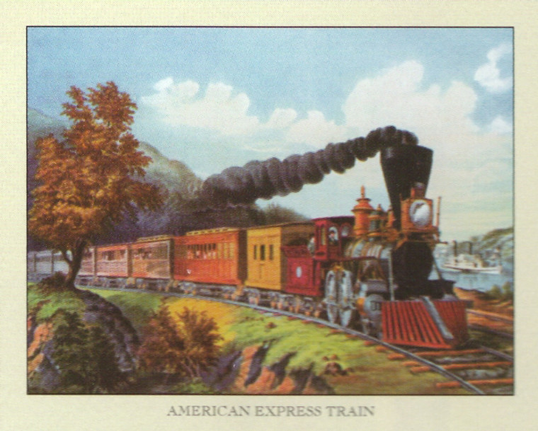 Vintage American Express Train Art Print Poster (16x20)