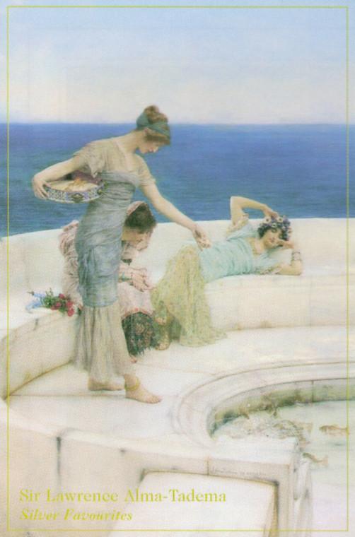 Silver Favorites, 1903 Sir Lawrence Alma-Tadema Wall Decor Art Print Poster (16x20)