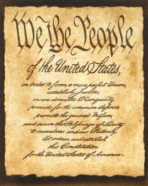 "Constitution of the United States ""We the People of the United States"" Wall Decor Art Print Poster (16x20)"
