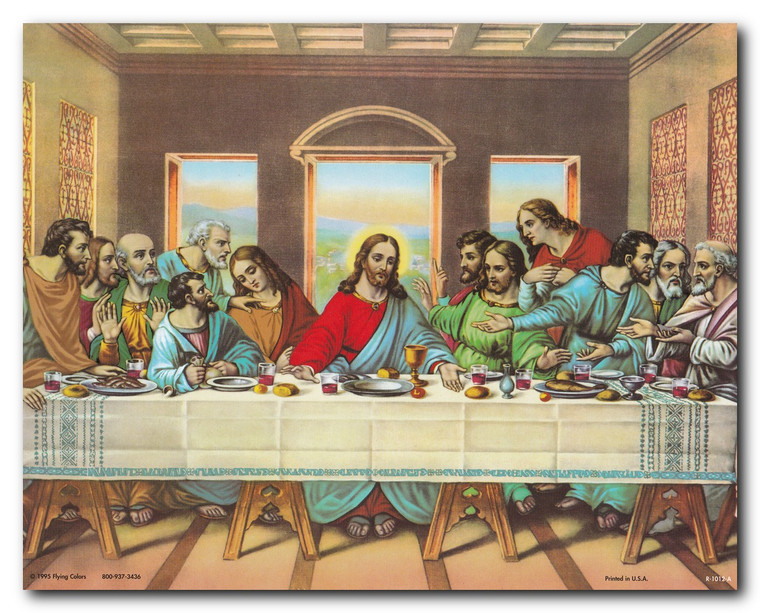 Jesus's Last Supper Religious & Spiritual Wall Decor Art Print Poster (16x20)