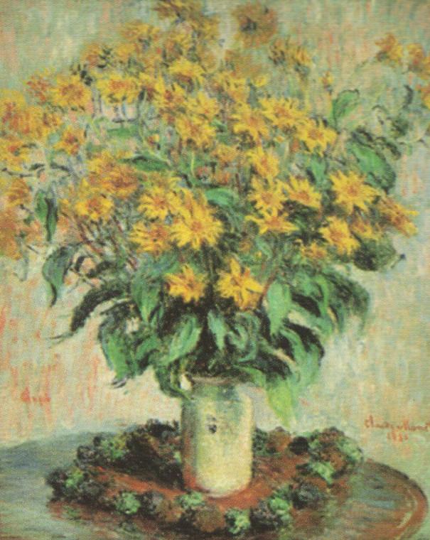 Claude Monet Sunflowers Floral Wall Decor Art Print Poster (16x20)