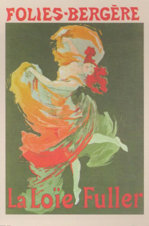 Fashion Girl Dance Dancing La Loie Fuller Folies Bergere Vintage Wall Decor Art Print Poster (16x20)