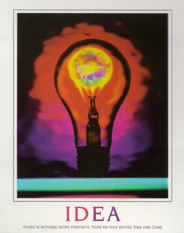 Idea Inspirational & Motivational Wall Decor Art Print Poster (16x20)