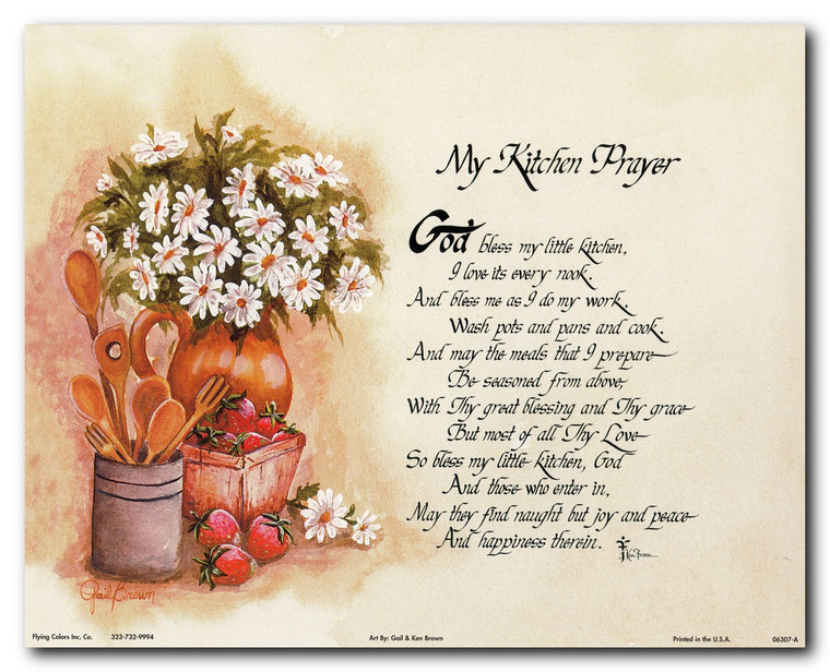 My Kitchen Prayer Wall Decor Art Print Poster (16x20)