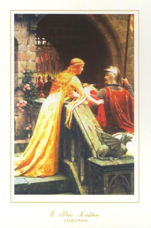 God Speed By Edmund Blair Leighton Wall Decor Art Print Poster (16x20)