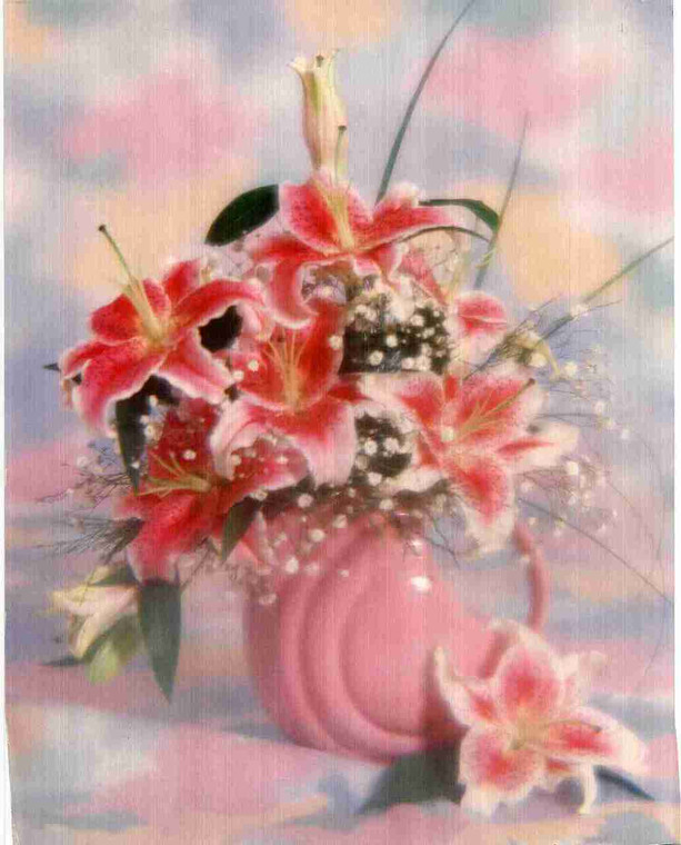 Floral Flower in vase Fine Art Wall Decor Art Print Poster (16x20)