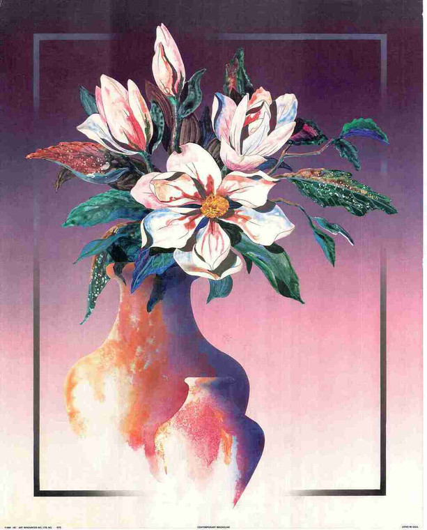 Beautiful Flower Painting Fine Art Floral Print Wall Decor Poster (16x20)