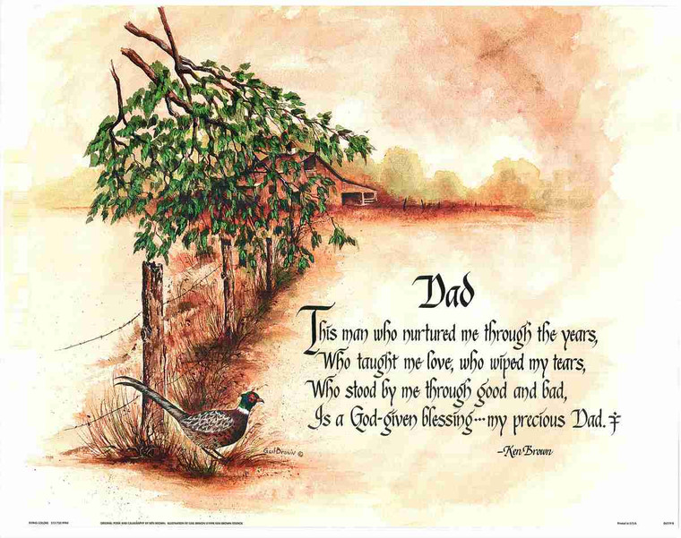 God-Given Blessing with Nature Fine Art Wall Decor Print Poster (16x20)