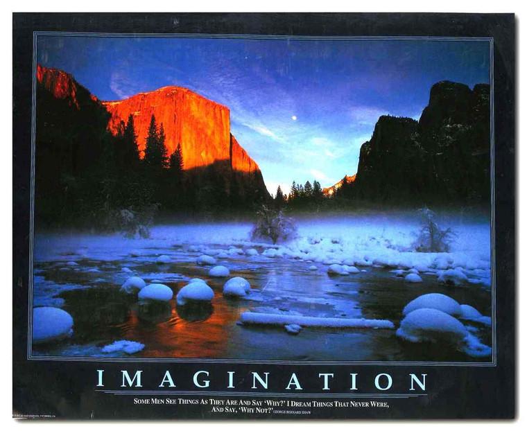 Dream Mountains Imagination Motivational Landscape Wall Decor Art Print Poster (11x14)