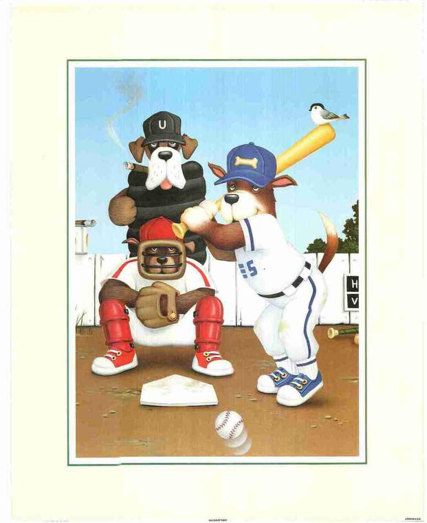 Funny Animal Cartoon Dogs Wall Decor Fine Art Print Poster (16x20)