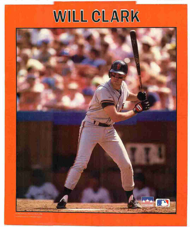 Motivational Baseball Sports Men Will Clark Wall Decor Art Print Poster (16x20)