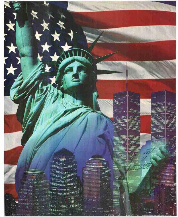 Motivational American Flag Wall Decor Art Print Poster (16x20)