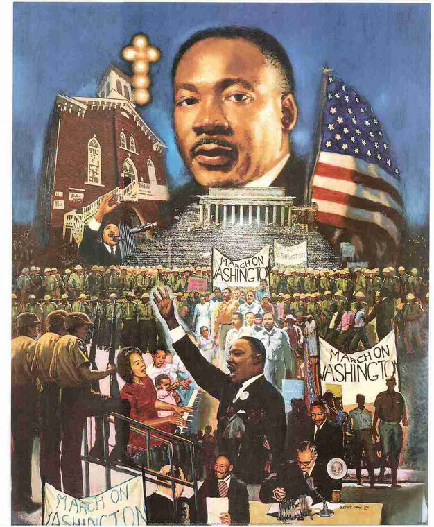 """""""The 1963 March On Washington"""" Speech By Martin Luther King Jr. Wall Decor Art Print Poster (16x20)"""