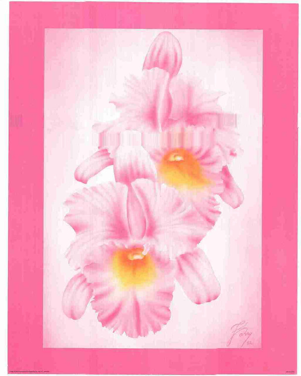 Pink Flower Floral Wall Decor Fine Art Print Poster (16x20)