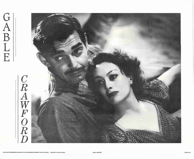 """""""Gable And Crawford"""" King And Queen Of Hollywood Fine Art Print Poster (16x20)"""