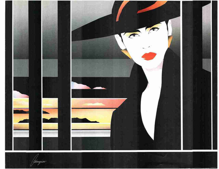 Exotic Vogue Lady Fashion Wall Decor Fine Art Print Poster (24x36)