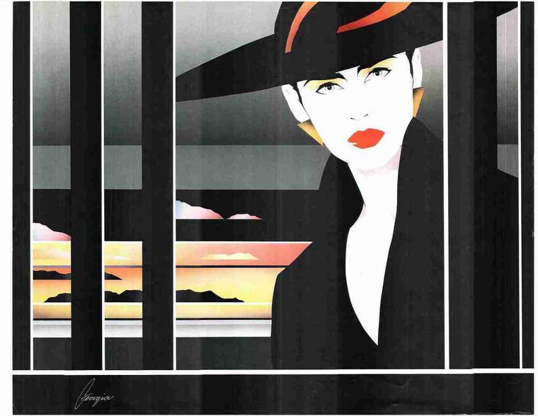 Exotic Vogue Lady Fashion Wall Decor Fine Art Print Poster (24x36)