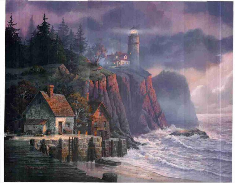 Beautiful Lighthouse Ocean Landscape Beach Wall Decor Scenery Art Print Poster (24x36)
