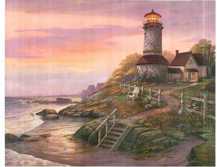 Portland Lighthouse Ocean Landsacpe Nature Wall Decor Art Print Poster (24x36)