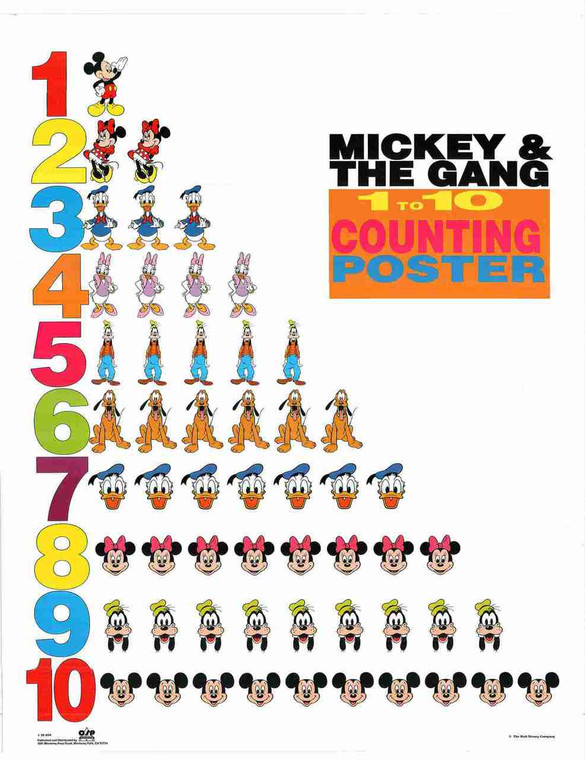 Mickey And The Gang Cartoon Kids Room Wall Decor Art Print Poster (24x36)