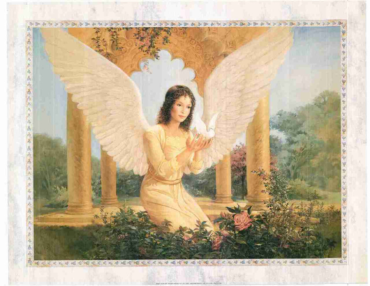 Beautiful Angel The Gift Of Peace Fine Wall Decor Art Print Poster (24x36)