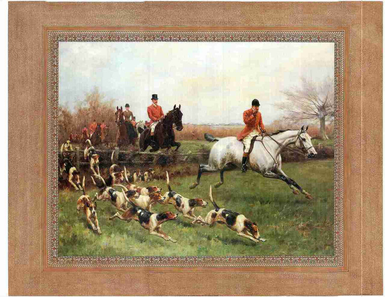 Cowboy Riding With Dogs Wall Decor Art Print Poster (24x36)