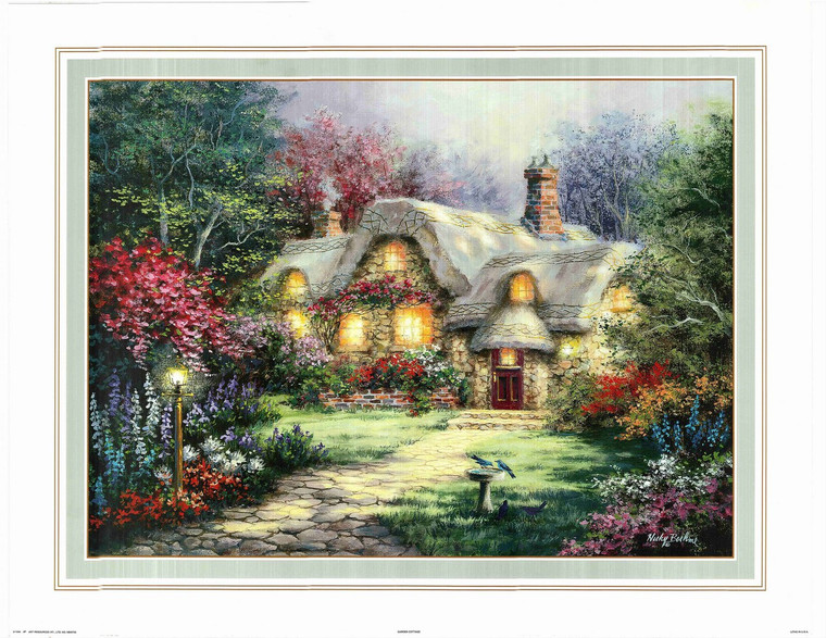 Nicky Boehme Country Cottage Scenery Landscape Wall Decor Art Print Poster (24x36)