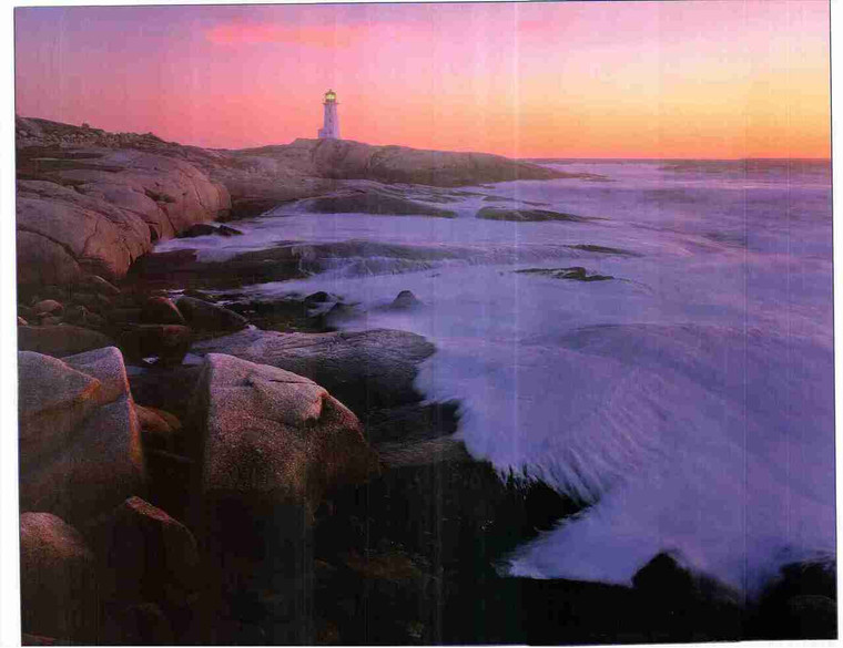 Ocean Beach Portland Lighthouse Landscape Scenery Wall Decor Art Print Poster (24x36)