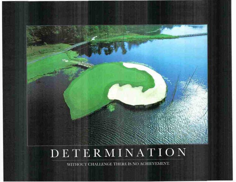 Determination Ocean Beach Wall Decor Motivational Art Print Poster (24x36)