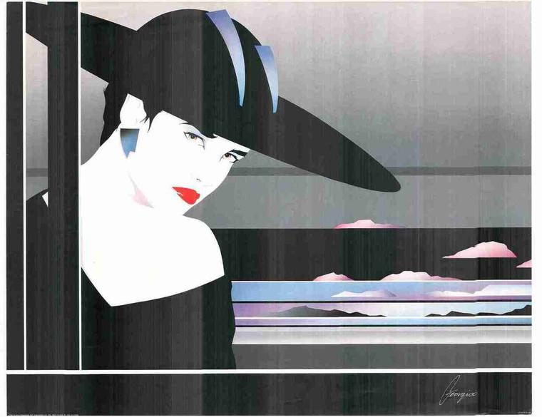 Exotic Vogue Women Wall Decor Fashion Fine Art Print Poster (24x36)