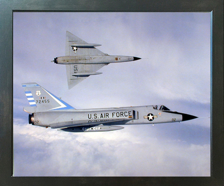 F-106 Delta Dart Aviation Aircraft Wall Decor Espresso Framed Picture Art Print (20x24)