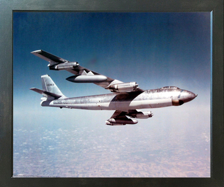 Vintage Airplane Boeing B-47 Stratojet Bomber Aviation Wall Decor Espresso Framed Picture Art Print (20x24)