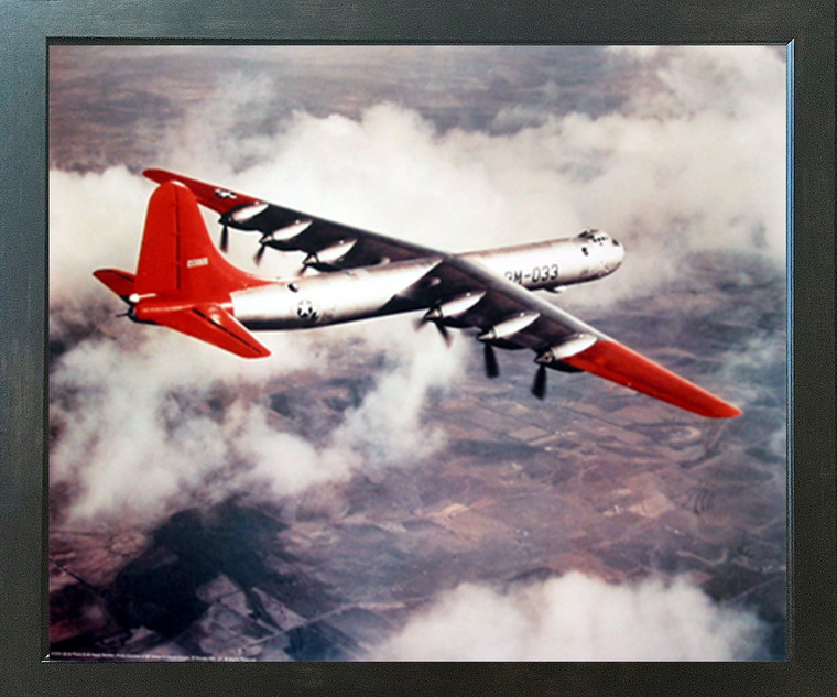 US Airforce B-36 Heavy Bomber Plane Military Aircraft Wall Decor Espresso Framed Picture Art Print (20x24)