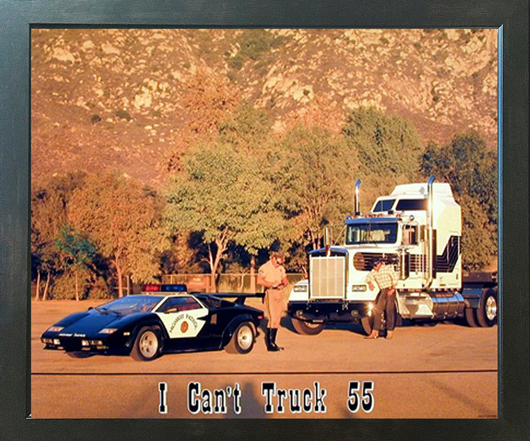 I Can't Truck 55 Funny Greg Smith Police Wall Espresso Framed Picture Art Print