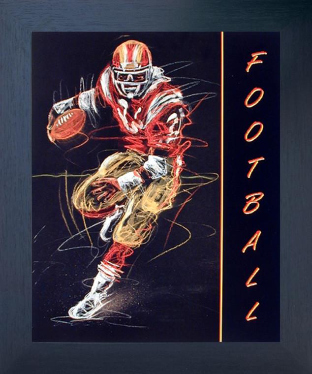 Rugby Football Scott Wilson Sports Motivational Fine Wall Decor Espresso Framed Picture Art Print (20x24)