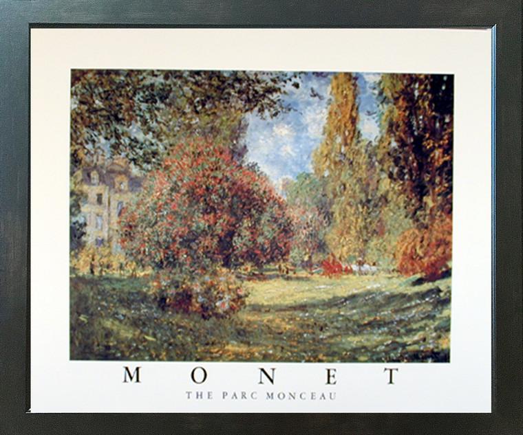 Claude Monet (The Parc Monceau, 1876) Impressionist Fine Espresso Framed Picture Art Print (20x24)