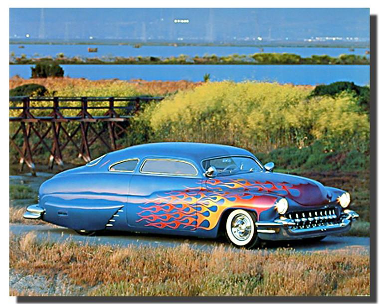 1949 Custom Mercury Car Posters